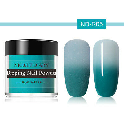 NICOLE DIARY 10g Thermal Dipping Nail Powder Color Changing No UV Needed ND-R05
