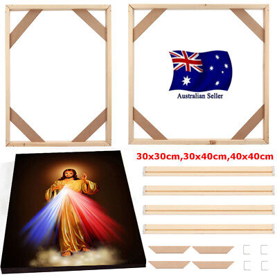 DIY 3 Size Wood Stretcher Bars Canvas Prints Picture Photo Frames Strips