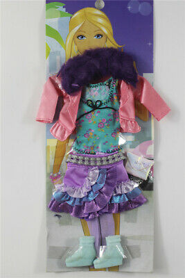 6in1 Fashion coat+vest +skirt+sock+shoes+bag FOR 11.5in.Doll Clothes Outfit