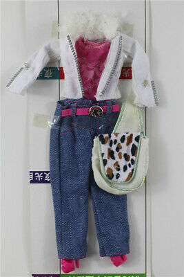 5in1 Fashion top jacket +vest +skirt+boots+bag FOR 11.5in.Doll Clothes Outfit 01