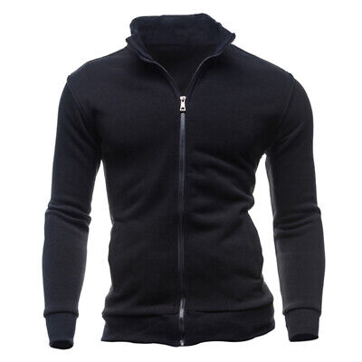 Men Vintage Style Leisure Sports Cardigan Soft Cotton Zippered Casual Jacket