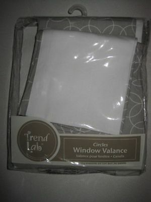 Trend Lab Window Valance - Gray and White Circles or Hello Sunshine
