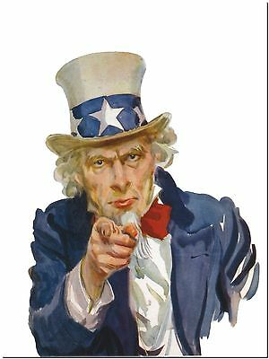 """Vintage Poster Uncle Sam wants you Canvas Print Poster 16X12"""""""
