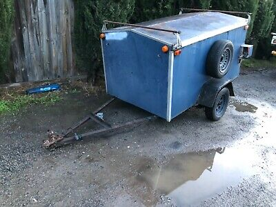 6x4 Enclosed Box Trailer new tyres. No reserve no cage cheap  new wheels n tyres