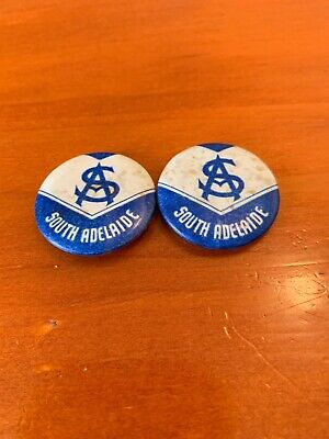 2 South Adelaide Panthers Football Club Button Badges SANFL