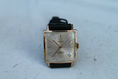 Old Vintage Wrist Watch Made Swiss AGVIN Automatic Man