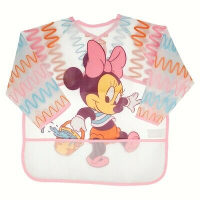 Babero Peva Con Mangas Y Bolsillo Minnie Mouse - Disney - Baby Paint Pot