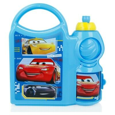 Combo Set Con Botella Sport 400 Ml | Cars Race Ready