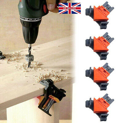 90° Right Angle Clamp Wood Working Miter Picture Frame Corner Tank Clip UKSeller