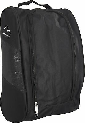 More Mile Boot Bag Black Double Zip Gym Golf Football Running Sports Shoe Bag