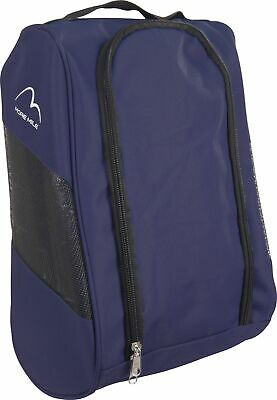 More Mile Boot Bag Navy Blue Double Zip Gym Golf Football Running Sport Shoe Bag