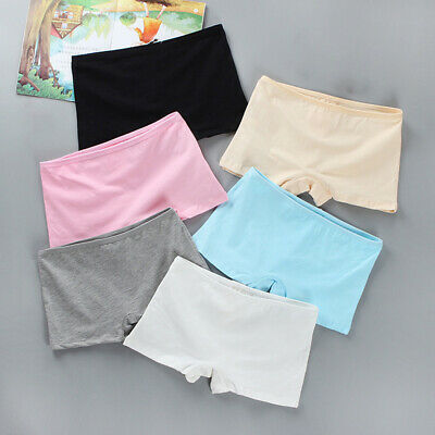 Kids Girl Boxer Shorts Safety Panties Knickers Cotton Slim Underwear Underpants~