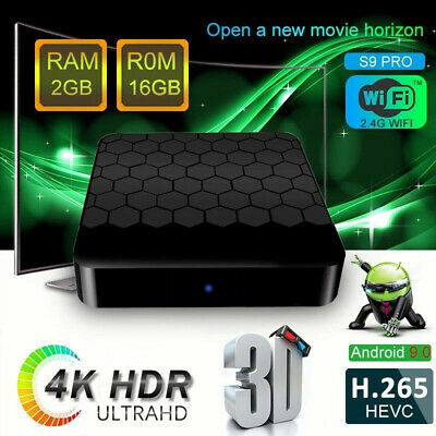 4K TV box S9 PRO 2GB+16GB ROM RK3328 Quad Core KODI 18 MXQ For Android 9.0 2019