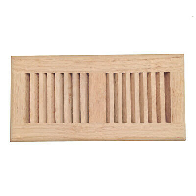 Oak, maple, hickory, walnut wood floor register, drop in vent cover, unfinished