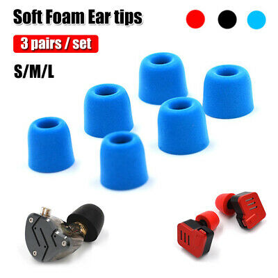 3 Pairs Memory Foam Ear Tips Noise Isolating M Size For KZ In-Ear Earphone