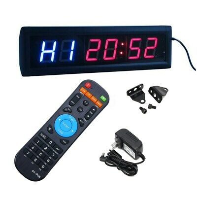 New Multifunctional CrossFit ProgramLED Interval Timer w/Remote For EMOM  ❤