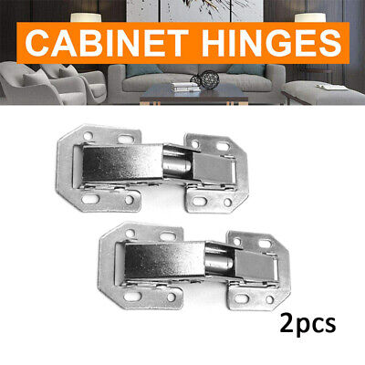 2x SOFT CLOSE KITCHEN CABINET CUPBOARD DOOR HINGES PLATE
