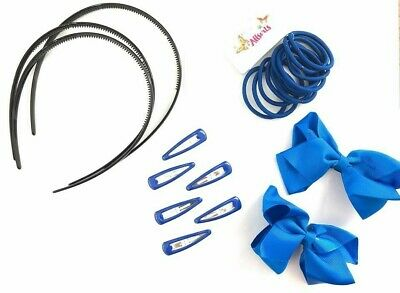 NEW Back to school Royal blue school set of elastic hair bobbles and sleepies