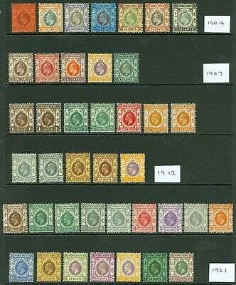 Early Hong Kong Edward VII & George V issues. Fresh mint values to $3. Nice...