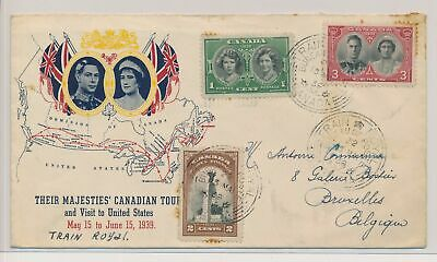 LK51592 Canada 1939 to Brussels Belgium fine cover used