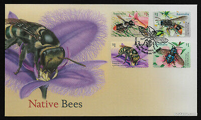 2019 Native Bees S/A *Unissued* FDC Stamps Australia