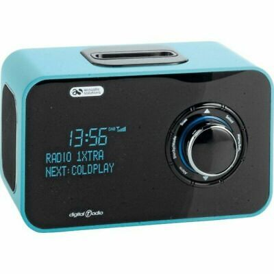 DAB Digital and FM Radio Alarm 20 Preset Stations DOCK -TURQUOISE