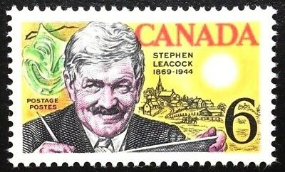 Canada  # 504   STEPHEN LEACOCK   New Issue 1969 Pristine Gum