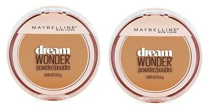 Set of 2 Maybelline Dream Wonder Compact Face Pressed Powder 90 Caramel