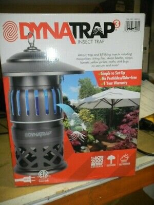 DynaTrap DT1050 Indoor/Outdoor Electric Insect Eliminator, 1/2 Acre OPENED BOX