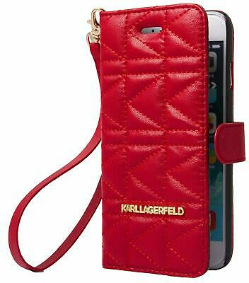 Karl Lagerfeld Kuilted Booktype Tasche für Apple iPhone 6/6S Bock Cover