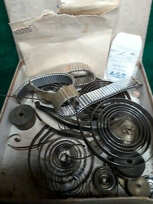 Assorted Vintage CLOCK and WATCH PARTS All Shown plus straps,