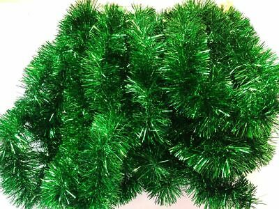 Christmas Tree Green Tinsel Garland 30 Ft