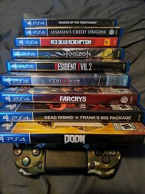 Lot of 9 PS4 games (Red Dead 2, God Of War, Far Cry 5, RE 2, Doom, Horizon...)