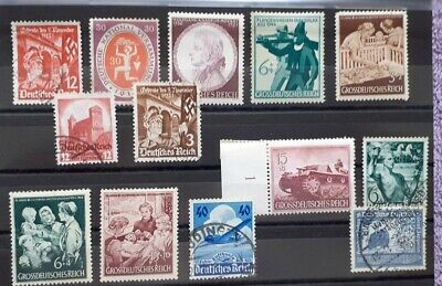 Timbres Germany, Deutsches Reich, Nazi, Allemagne., stamps, Lot mixed