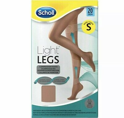 SCHOLL Light Legs Compression Tights Ladder Resistant Comfort 20 Den Nude Small