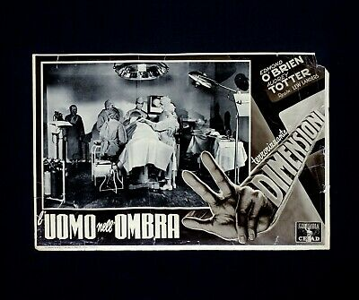 L'UOMO NELL'OMBRA fotobusta poster Edmond O'Brien Man in the Dark Tre Mano H85