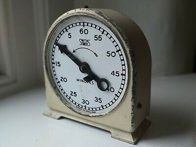 Rare Vintage c1950's Smiths 60 Minute Countdown Timer - Wind Using Minute Hand