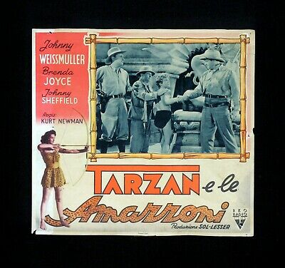 TARZAN E LE AMAZZONI fotobusta poster Johnny Sheffield and the Amazons H87