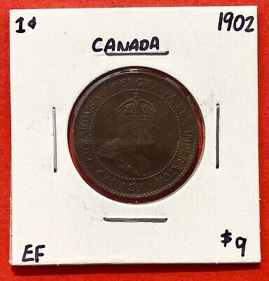 1902 Canada Large One Cent Coin - $9 EF