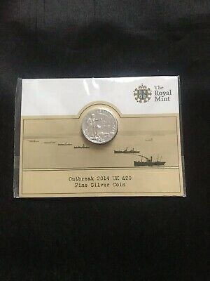 Royal Mint Outbreak Of First World War 2014 UK £20 Fine Silver Coin