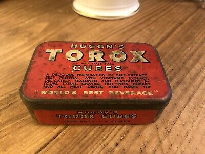 """VINTAGE RARE COLLECTABLE """"TOROX"""" OXO 1930s TIN CHARMING AND IN GOOD CONDITION"""