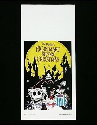 NIGHTMARE BEFORE CHRISTMAS locandina poster Tim Burton The Animazione AZ12