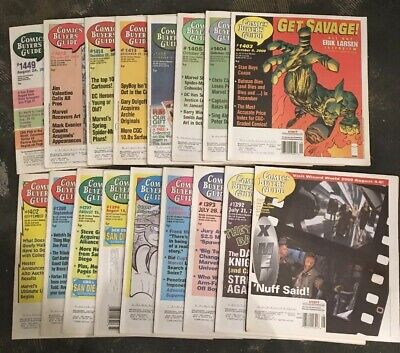 Comic Buyers Guide Lot of 17