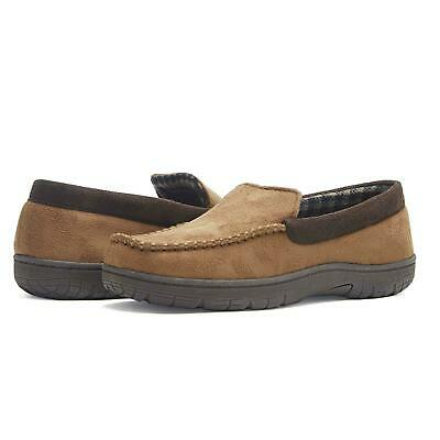 32 Degrees Mens Venetian Faux-Suede Thinsulate Moccasin Slippers Tan L 9.5 -10.5