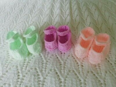 """Hand Knitted Dolls Clothes to fit 18"""" Annabell or Baby Doll"""