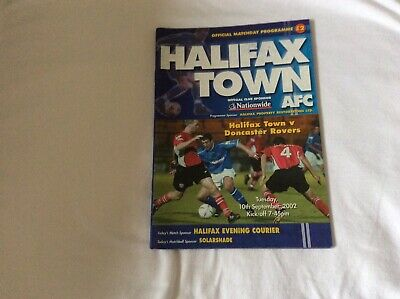 Halifax Town  v Doncaster Rovers Nationwide Conference September 2002