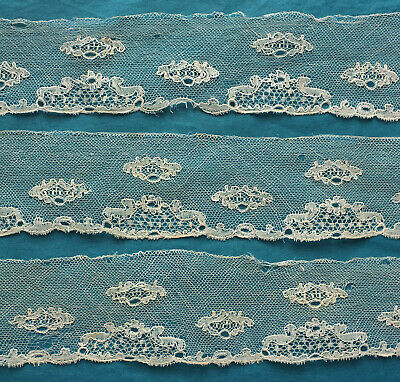 215 cms. antique Bucks lace border - for study