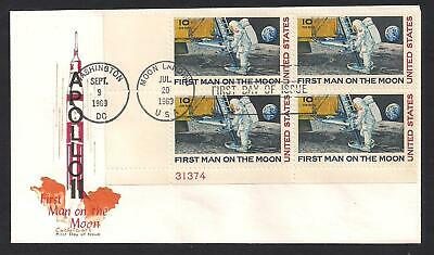 Apollo 11 - Moon Landing - First Man On Moon - 1969 Cachet Craft First Day Cover