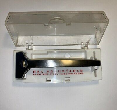 Vintage PAL Safety Razor Injector Style with Case