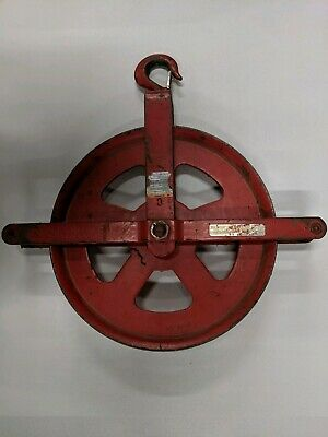 12 Heavy Duty Gin Pulley Block Manila Rope Pulley Painters Pulley
